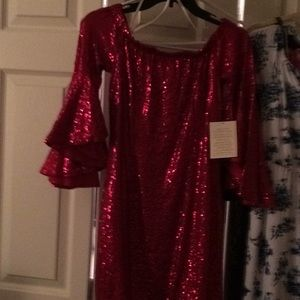 Boston Proper sequin dress